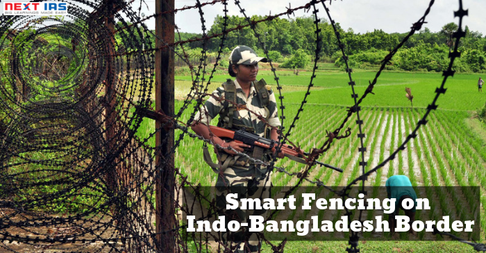 SMART FENCING ON INDO-BANGLADESH BORDER