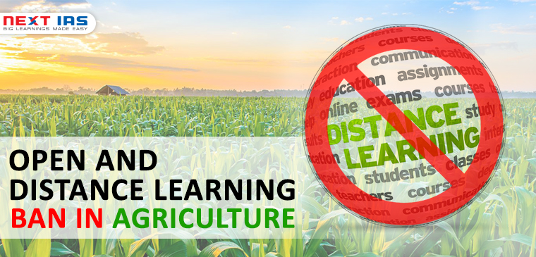 OPEN AND DISTANCE LEARNING (ODL) BAN IN AGRICULTURE